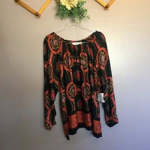 Fashion Bug Tops - BOHO STYLE SHARK BITE HEM BLOUSE NWT